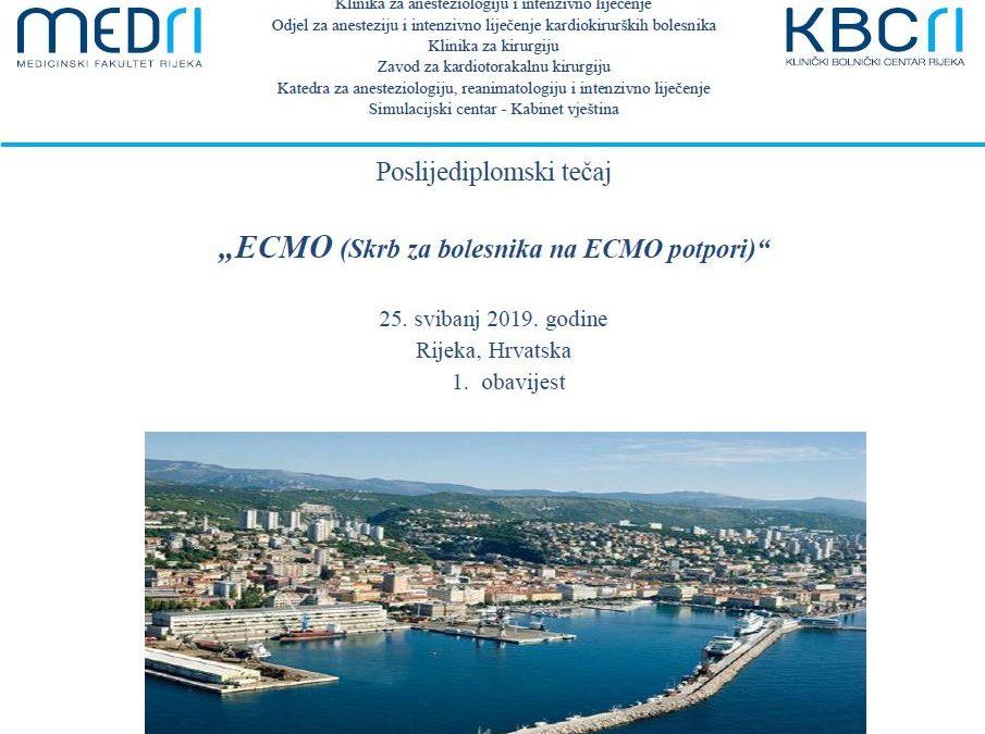 ECMO tečaj Rijeka